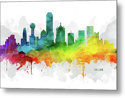 Dallas Skyline Mmr-ustxda05 Metal Print
