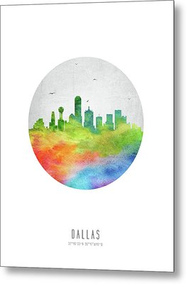 Dallas Skyline Ustxda20 Metal Print