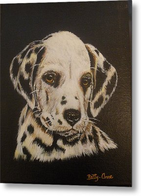Metal Print featuring the painting Dalmation by Betty-Anne McDonald