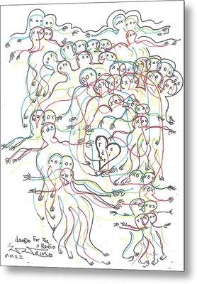 Dance For The Radio Metal Print by Robert Wolverton Jr