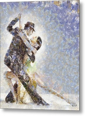 Dance Of Romance Metal Print by Shirley Stalter