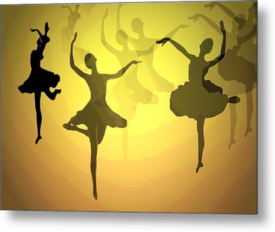 Dance With Us Into The Light Metal Print by Joyce Dickens