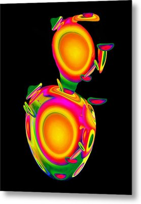 Dancing Egg Ant Metal Print by Jacqueline Migell