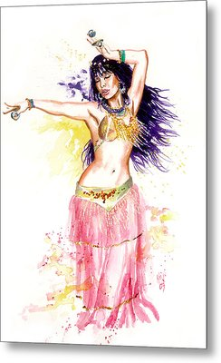 Dancing Girl Metal Print by Ken Meyer jr