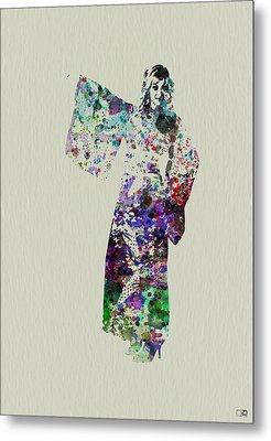 Dancing In Kimono Metal Print by Naxart Studio
