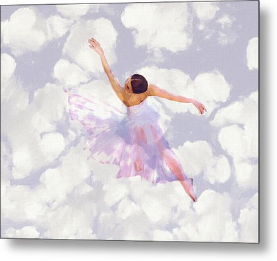 Dancing In The Clouds Metal Print by Steve K