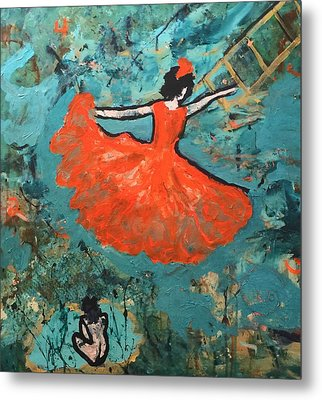Dancing Lady Metal Print by Annette McElhiney