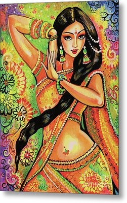 Metal Print featuring the painting Dancing Nithya by Eva Campbell