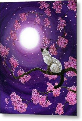 Dancing Pink Petals Metal Print by Laura Iverson