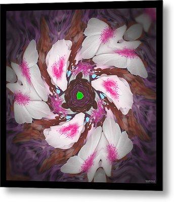 Dancing Rose Petals 57 Metal Print by Brian Gryphon