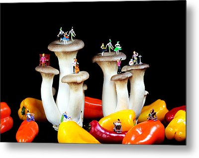Dancing Show On Mushroom Metal Print by Paul Ge