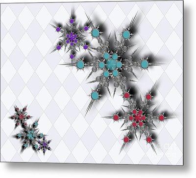 Dancing Snowflakes Metal Print