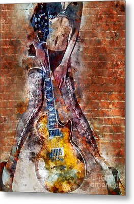 Dancing With Les Paul Metal Print