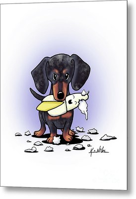Dapple Doxie Destroyer Metal Print by Kim Niles