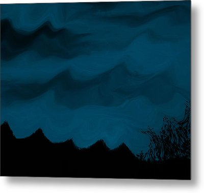 Dark Is The Night Metal Print