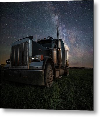 Metal Print featuring the photograph Dark Rig by Aaron J Groen