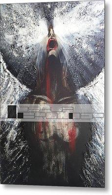 Darkness Rain Metal Print by Joshua Browder