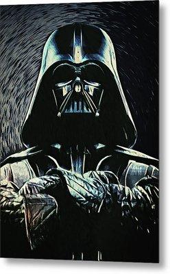 Darth Vader Metal Print by Taylan Apukovska