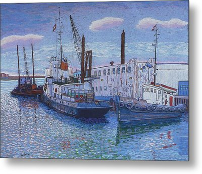 Dartmouth Marine Slips Metal Print by Rae  Smith