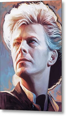 Metal Print featuring the painting David Bowie Artwork 2 by Sheraz A