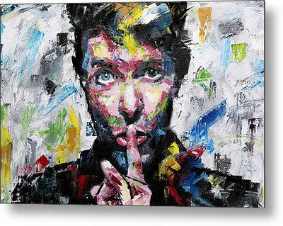 David Bowie Shh Metal Print