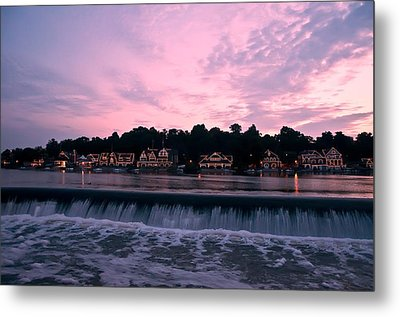 Dawn At Boathouse Row Metal Print