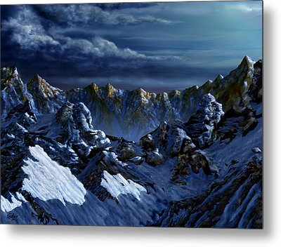 Metal Print featuring the digital art Dawn At Eagle's Peak by Curtiss Shaffer