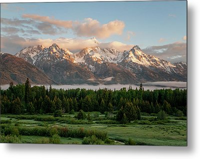 Dawn At Grand Teton National Park Metal Print