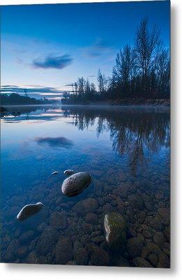 Dawn At River Metal Print