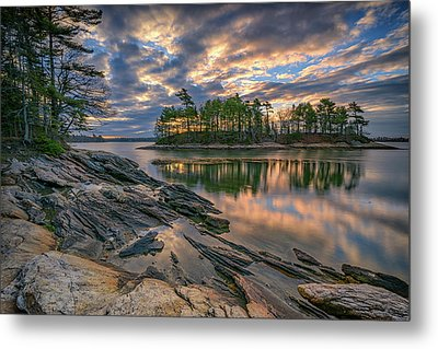 Dawn At Wolfe's Neck Woods Metal Print