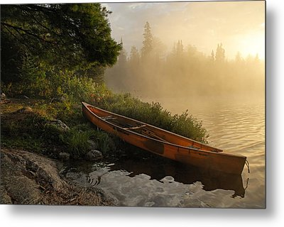 Dawn On Boot Lake Metal Print by Larry Ricker