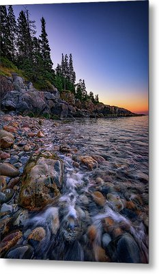 Dawn On Little Hunter's Beach, Acadia Metal Print by Rick Berk