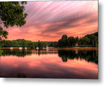 Dawn On The Saco River Metal Print