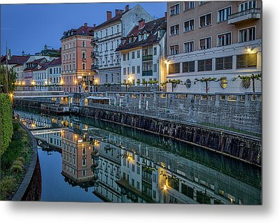 Metal Print featuring the photograph Dawn River Reflections #3 - Slovenia by Stuart Litoff