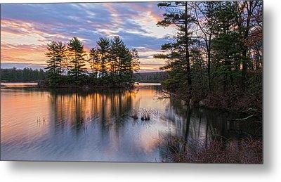 Dawn Serenity At Lake Tiorati Metal Print by Angelo Marcialis