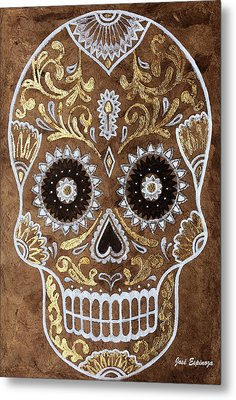 Metal Print featuring the painting Day Of Death by J- J- Espinoza