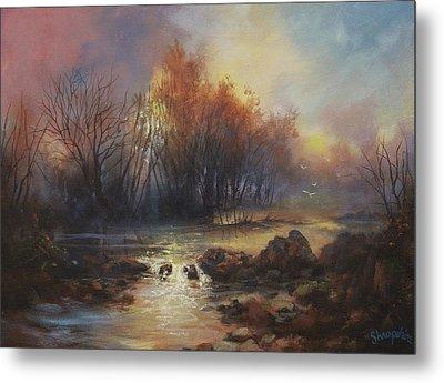 Daybreak Willow Creek Metal Print