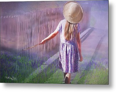 Metal Print featuring the digital art Daydreamer by Wallaroo Images