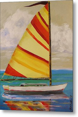 Daysailer By John Williams Metal Print by John Williams