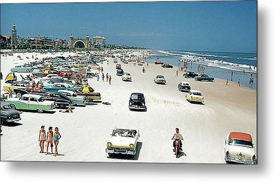 Daytona Beach Florida - 1957 Metal Print by Merton Allen