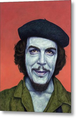 Dead Red - Che Metal Print by James W Johnson