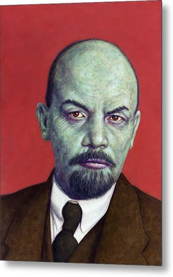 Dead Red - Lenin Metal Print by James W Johnson
