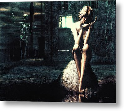 Death Is A Poet Metal Print by Bob Orsillo
