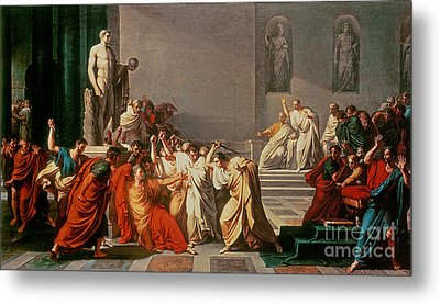 Death Of Julius Caesar Metal Print