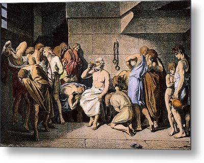 Death Of Socrates Metal Print by Granger