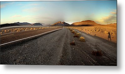 Death Valley Hitch Hiker Metal Print