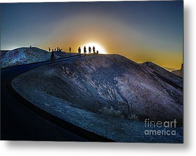 Death Valley National Park Mesquite Flat Zarembski Point Metal Print by Timothy Kleszczewski