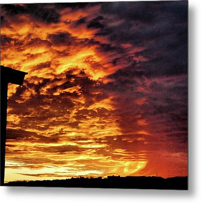 Metal Print featuring the painting December Austin Sunset  by Layne William LoMaglio