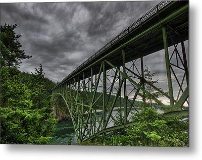 Deception Pass Bridge - Oak Harbor, Wa Metal Print by Kevin Pate