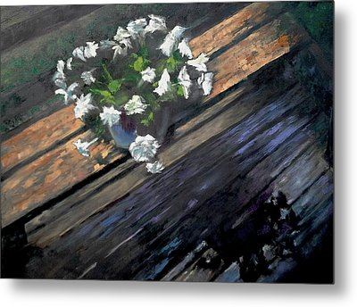 Deck Flowers #1 Metal Print by Brian Kardell